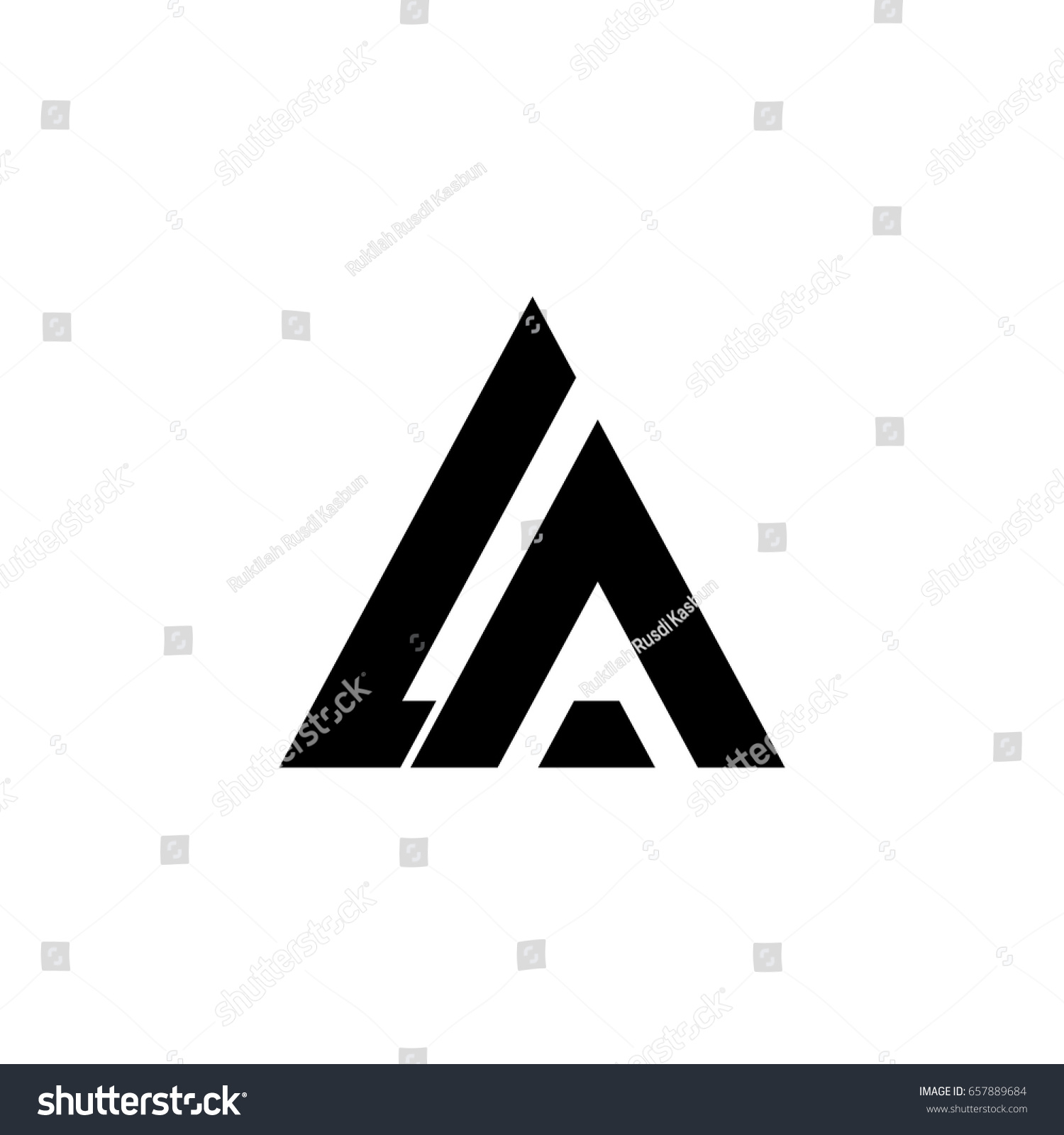 letter logo la letter logo stock vector royalty free 657889684