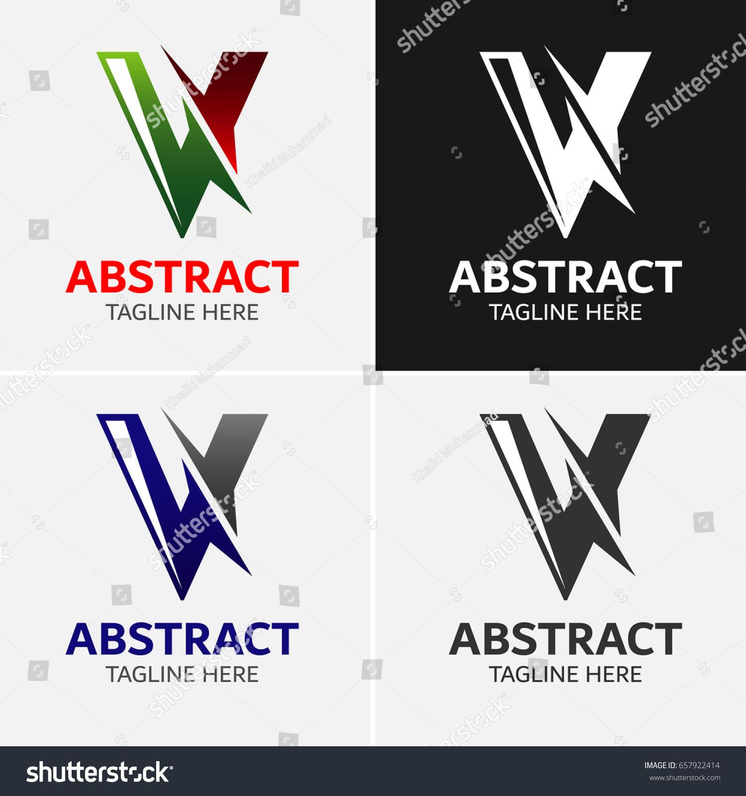 Alphabet V Logo Template Icon Symbol Stock Vector 657922414
