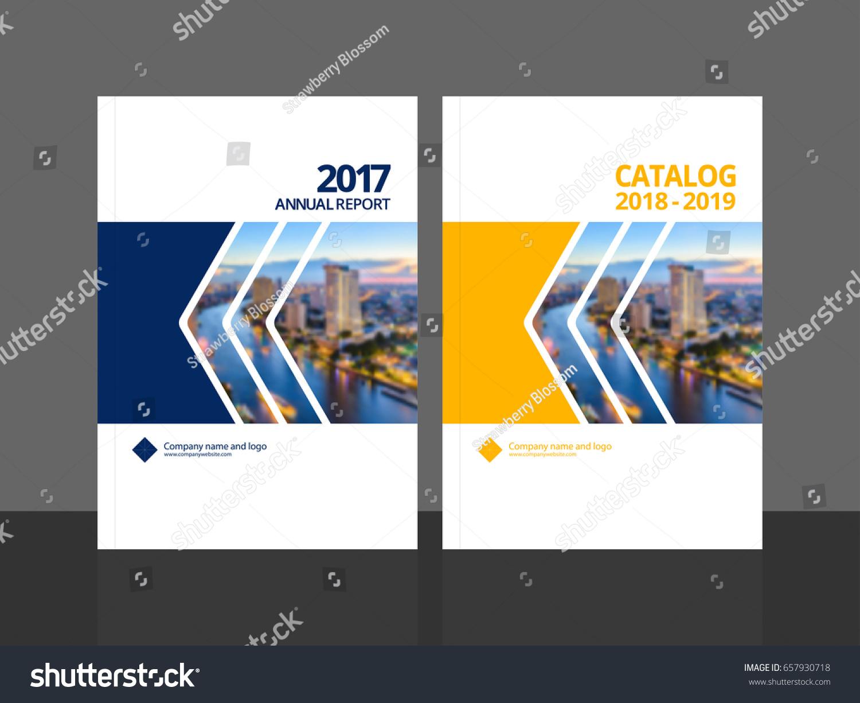 cover design annual report business catalog stock vector