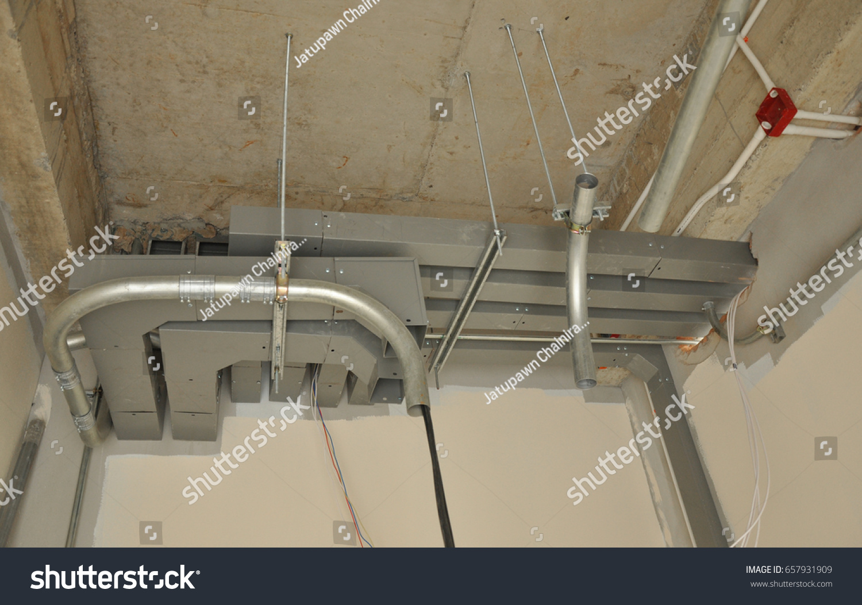 Amazing Galvanized Steel Conduit Wire Way Electrical Stock Photo Edit Now Wiring Database Obenzyuccorg