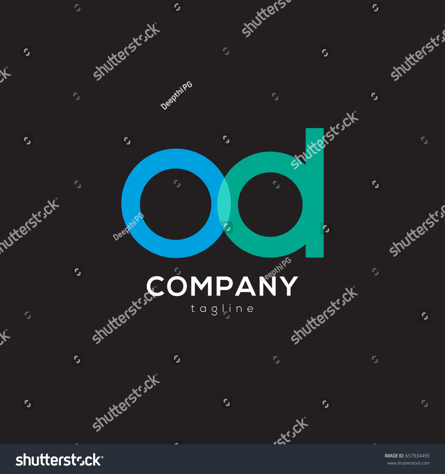 o d joint logo icon design stock vector 657934495 shutterstock