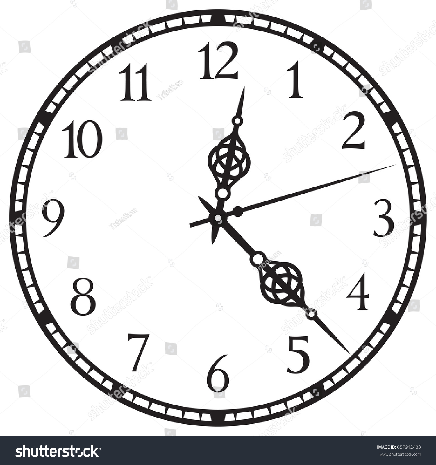 old clock vector for pc