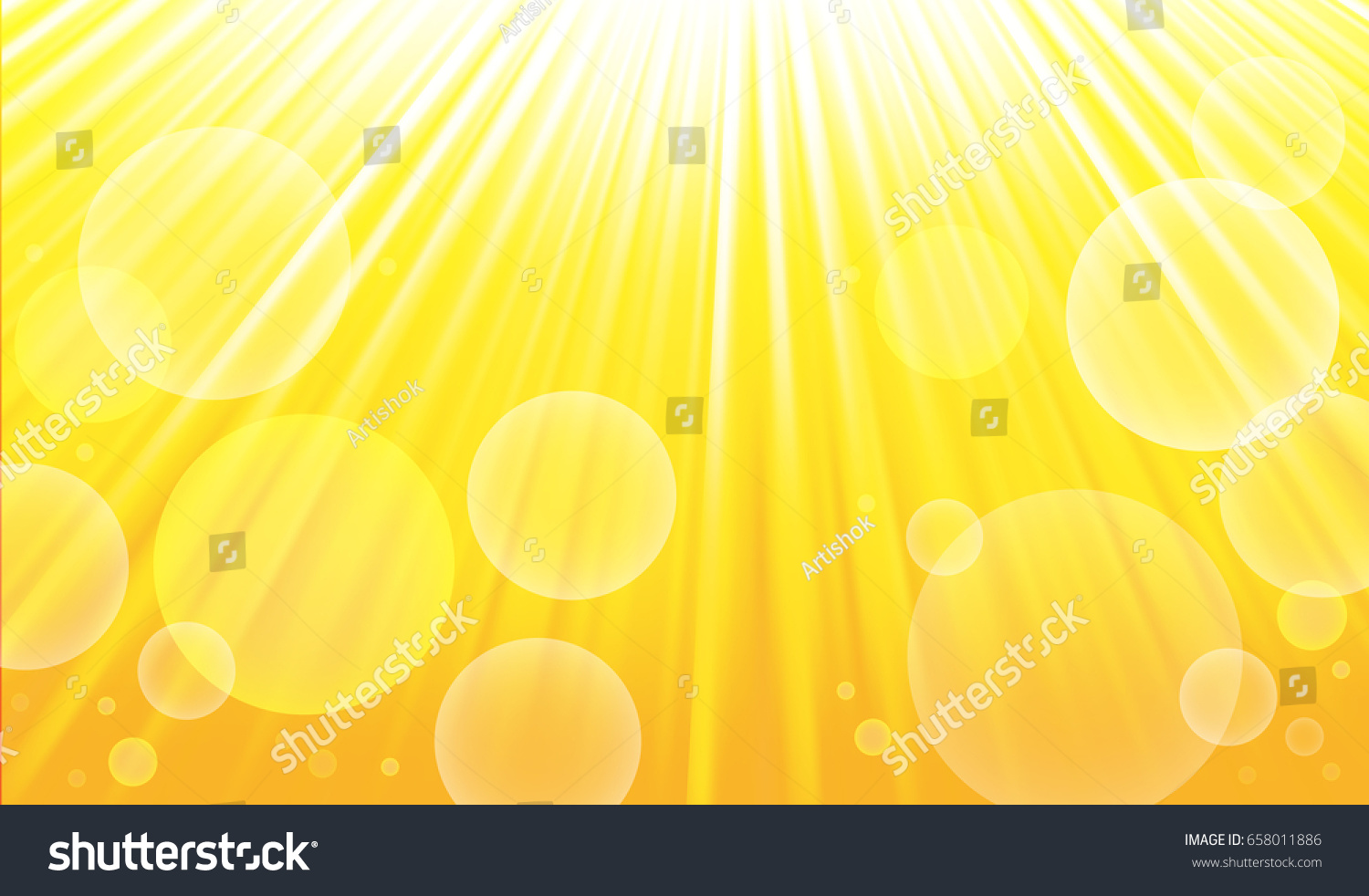 Summer Template Banner Sun Rays Glow Stock Illustration 658011886 ...
