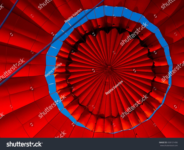 Parachute Valve Inside Hot Air Balloon Stock Photo (Royalty Free ...