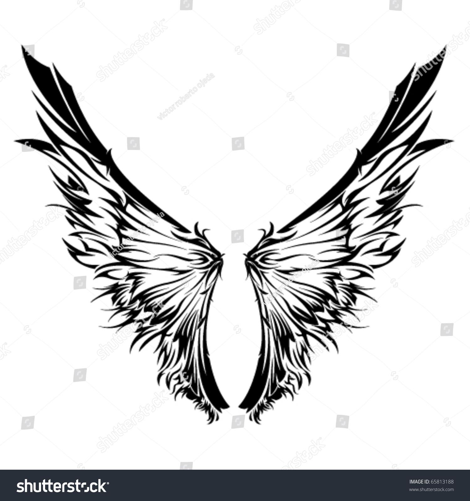 Tribal Wings Stock Vector 65813188 - Shutterstock