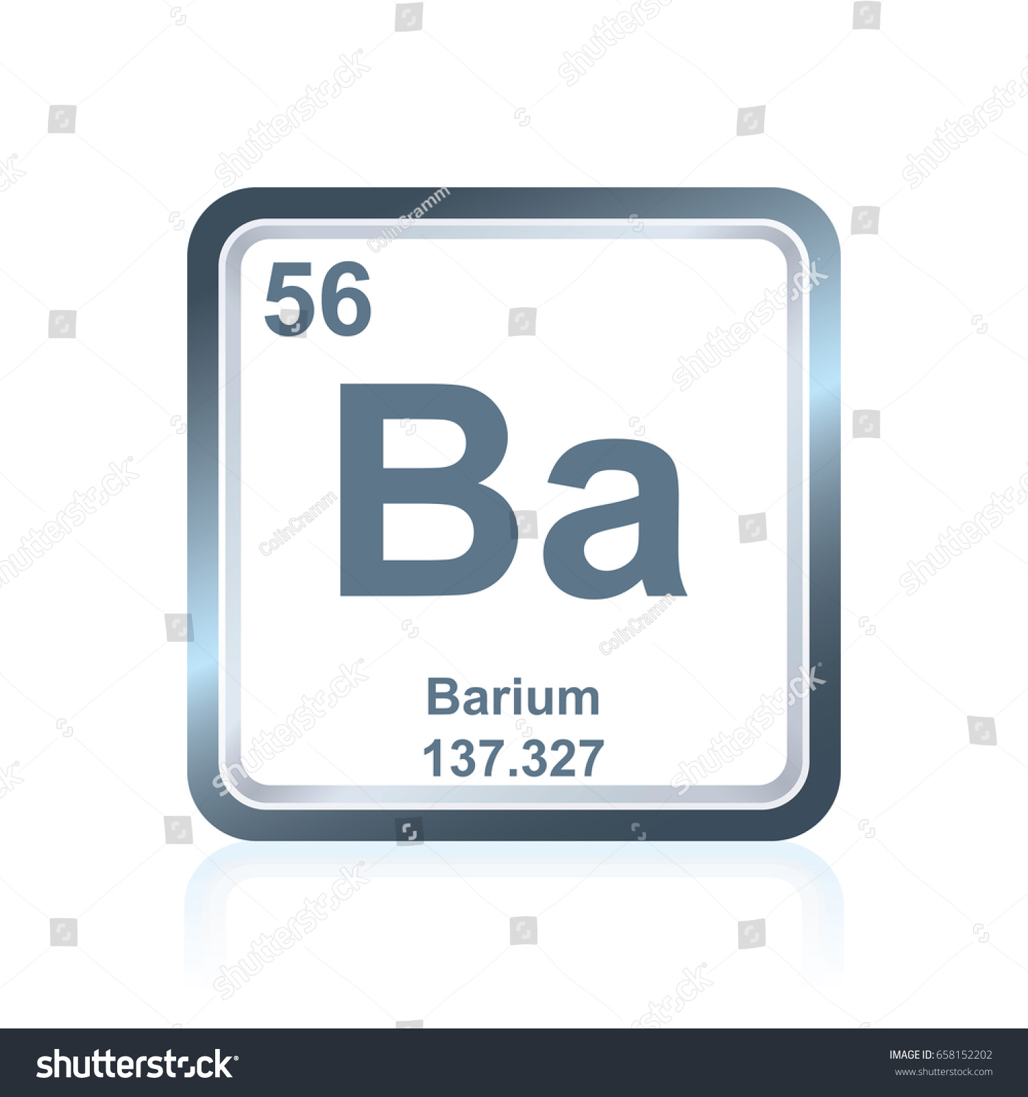 Symbol chemical element barium seen on stock vector 658152202 symbol of chemical element barium as seen on the periodic table of the elements including gamestrikefo Gallery