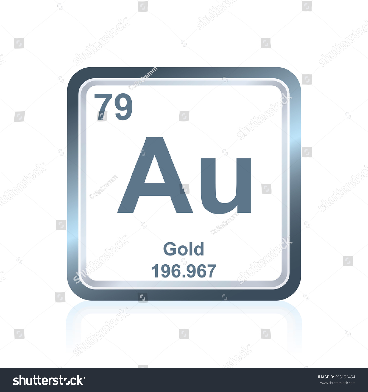 Symbol chemical element gold seen on stock vector 658152454 symbol of chemical element gold as seen on the periodic table of the elements including gamestrikefo Image collections