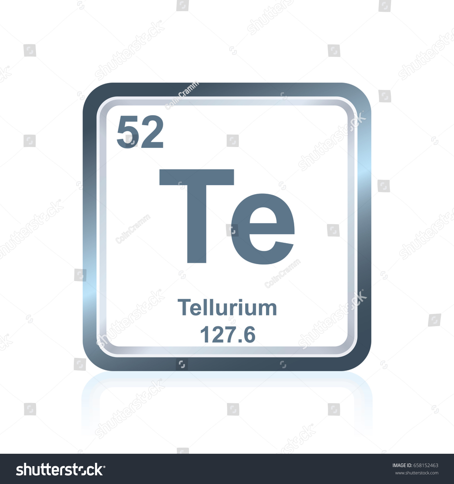 Tellurium on the periodic table images periodic table images symbol chemical element tellurium seen on stock vector 658152463 symbol of chemical element tellurium as seen gamestrikefo Choice Image