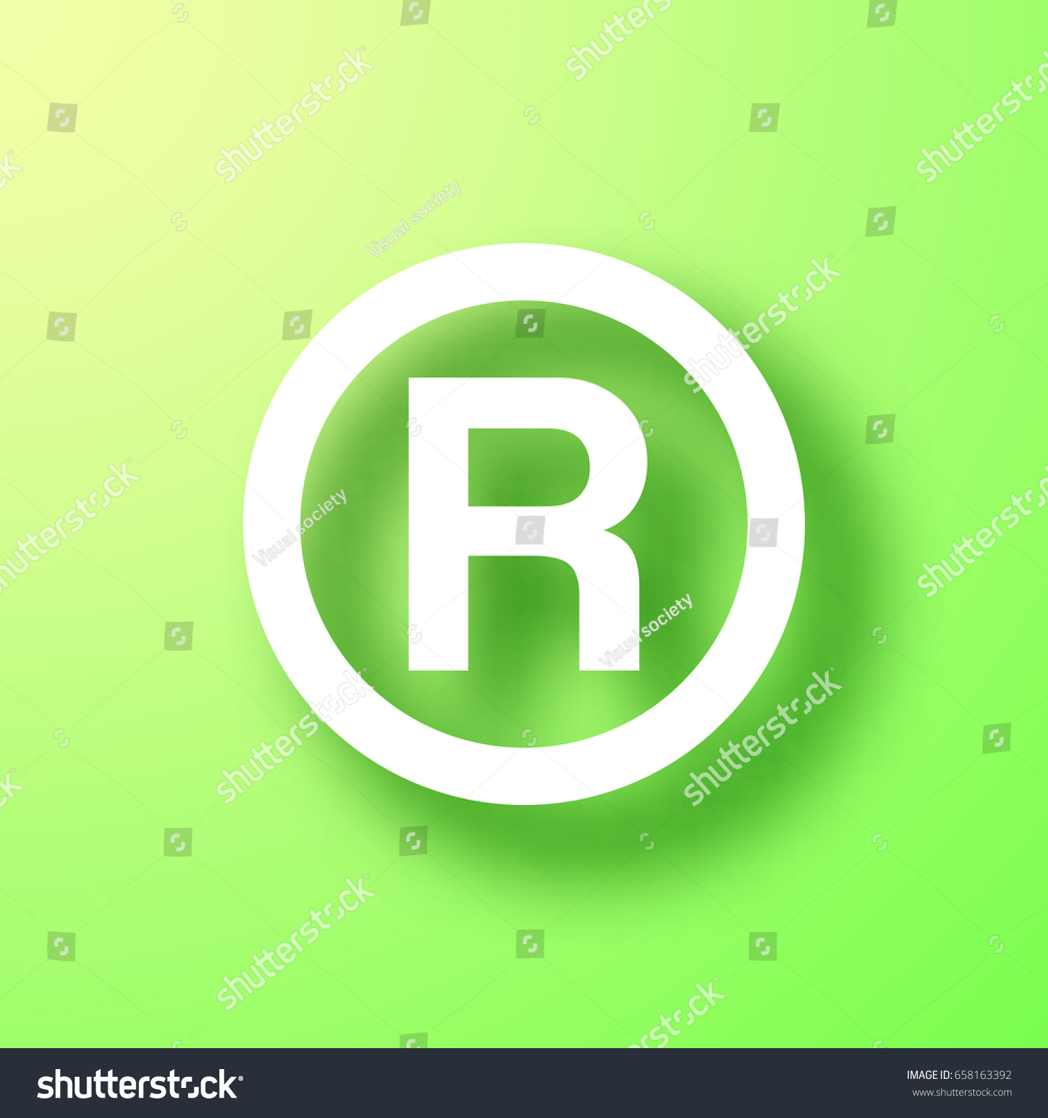 R Registered Trademark Symbol Isolated On Stock Vector Royalty Free