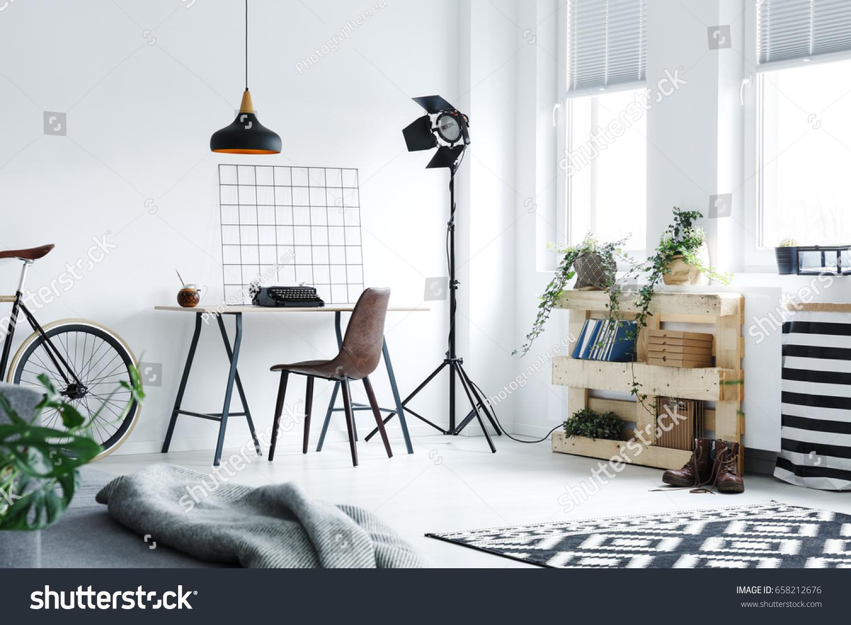Modern Minimalistic Home Office Diy Accessories Stock Photo ...