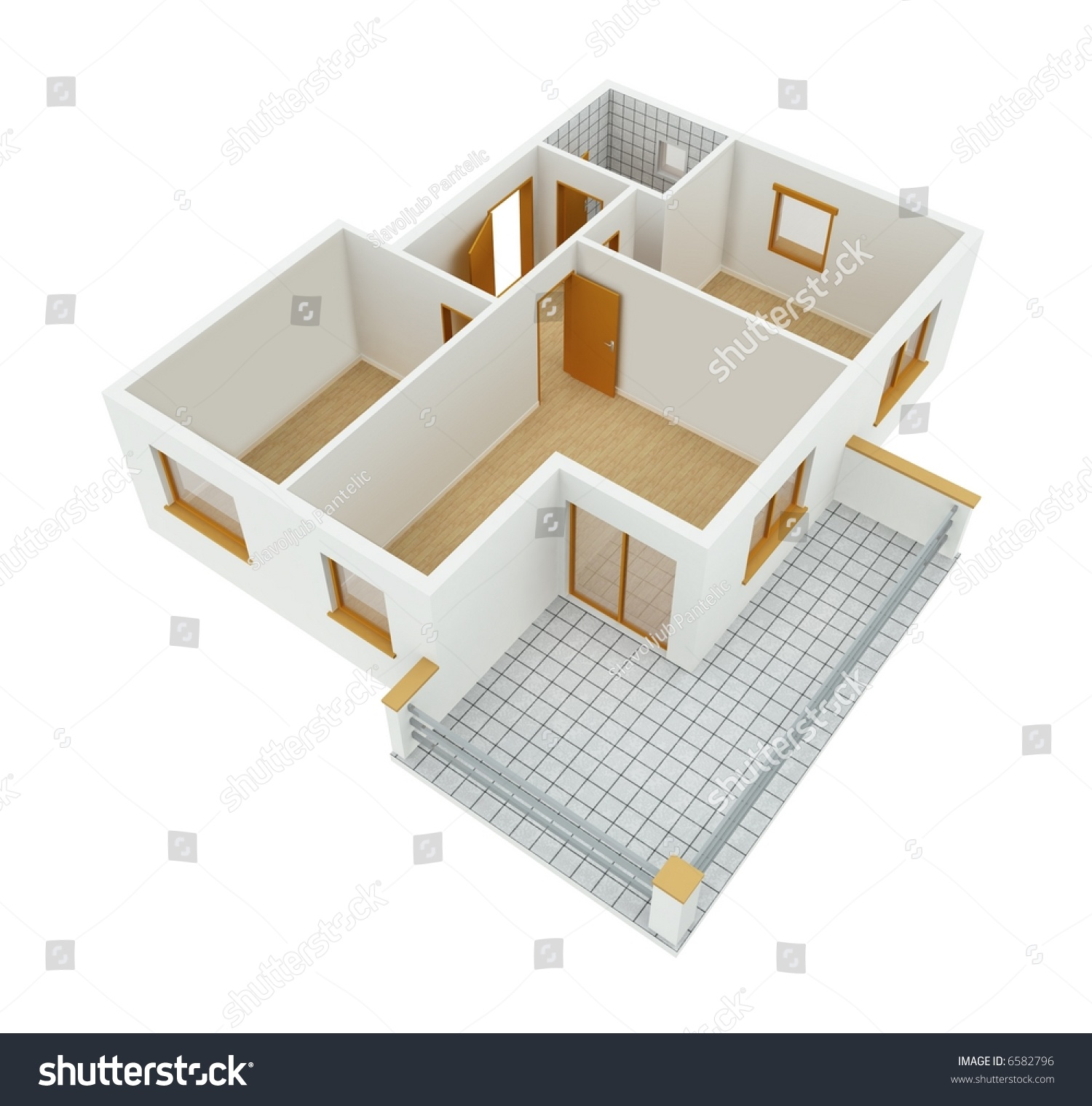 3d new apartment floor plan stock photo 6582796 shutterstock for Apartment stock plans