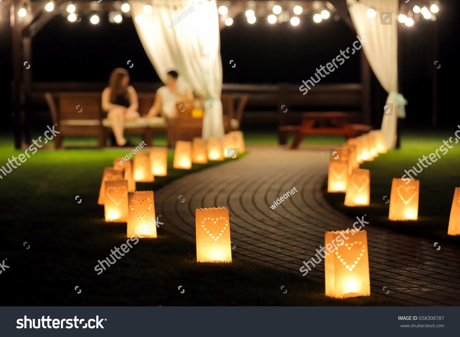 summer house lighting. Night Lighting Path For Walks In The Garden With Lantern Summerhouse Summer House