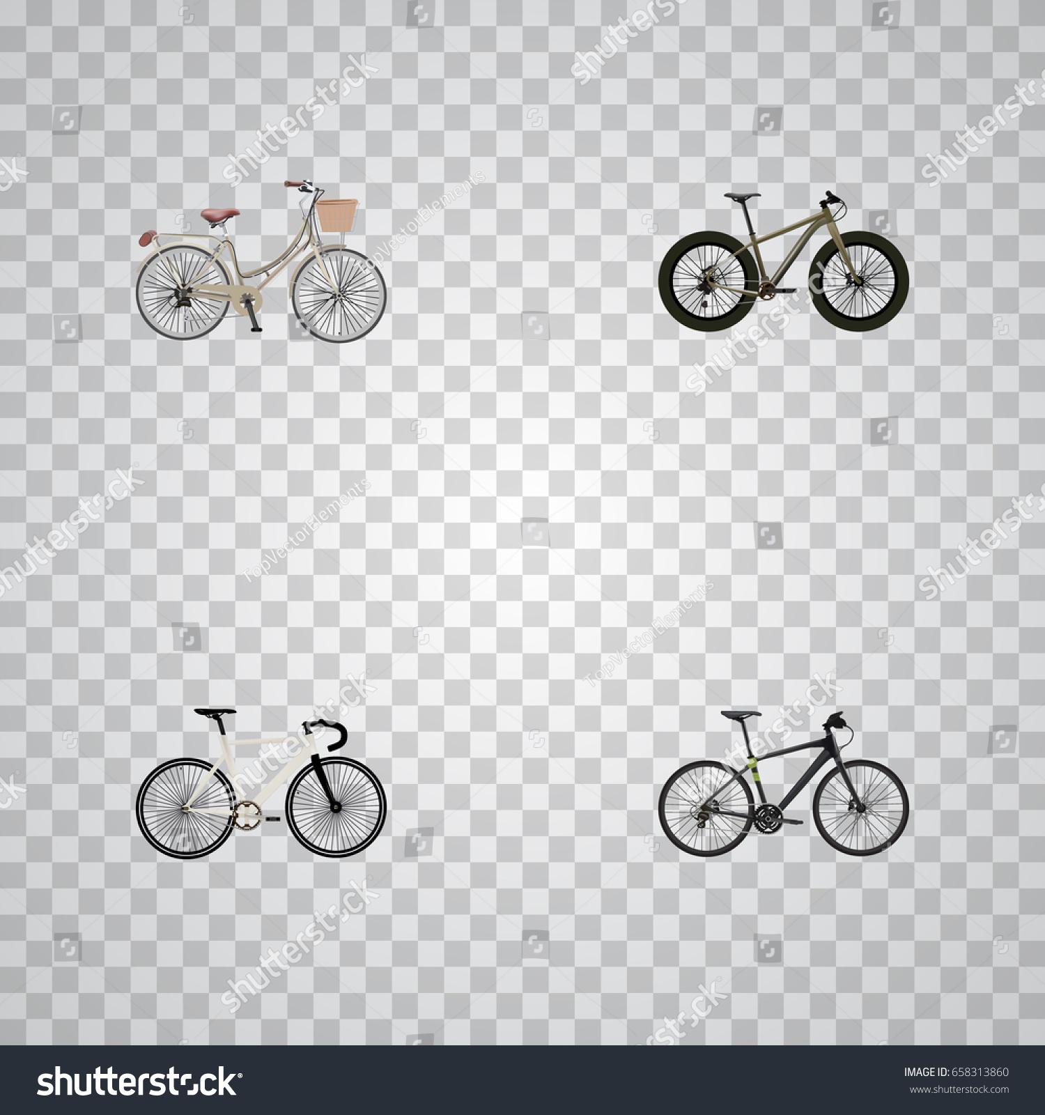 Realistic brand road velocity hybrid velocipede stock vector realistic brand road velocity hybrid velocipede vector elements set of bike realistic symbols biocorpaavc Images