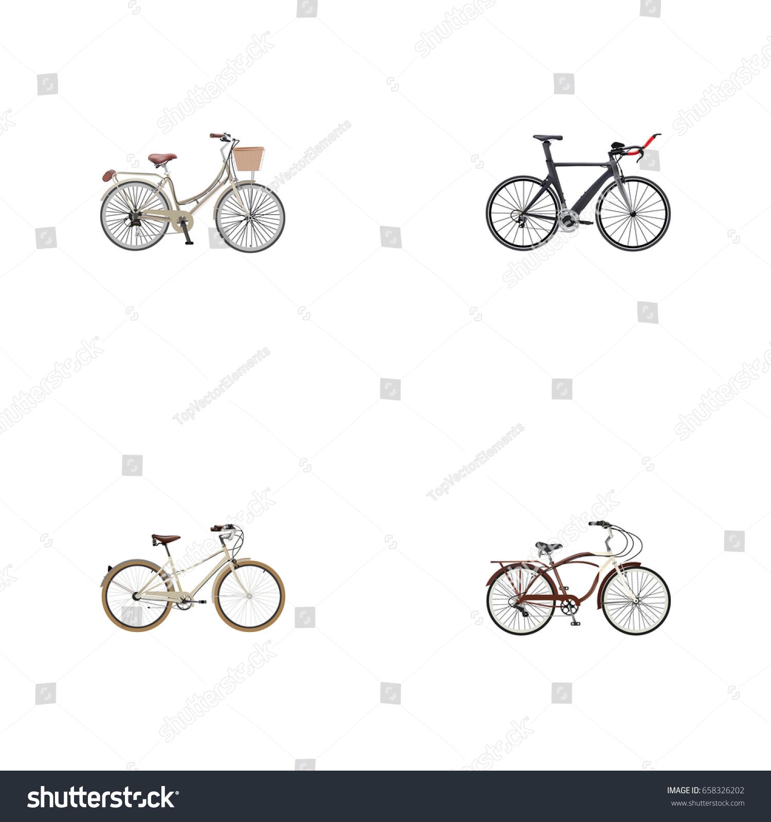 Realistic journey bike brand competition bicycle stock vector realistic journey bike brand competition bicycle vector elements set of bike realistic symbols biocorpaavc Images