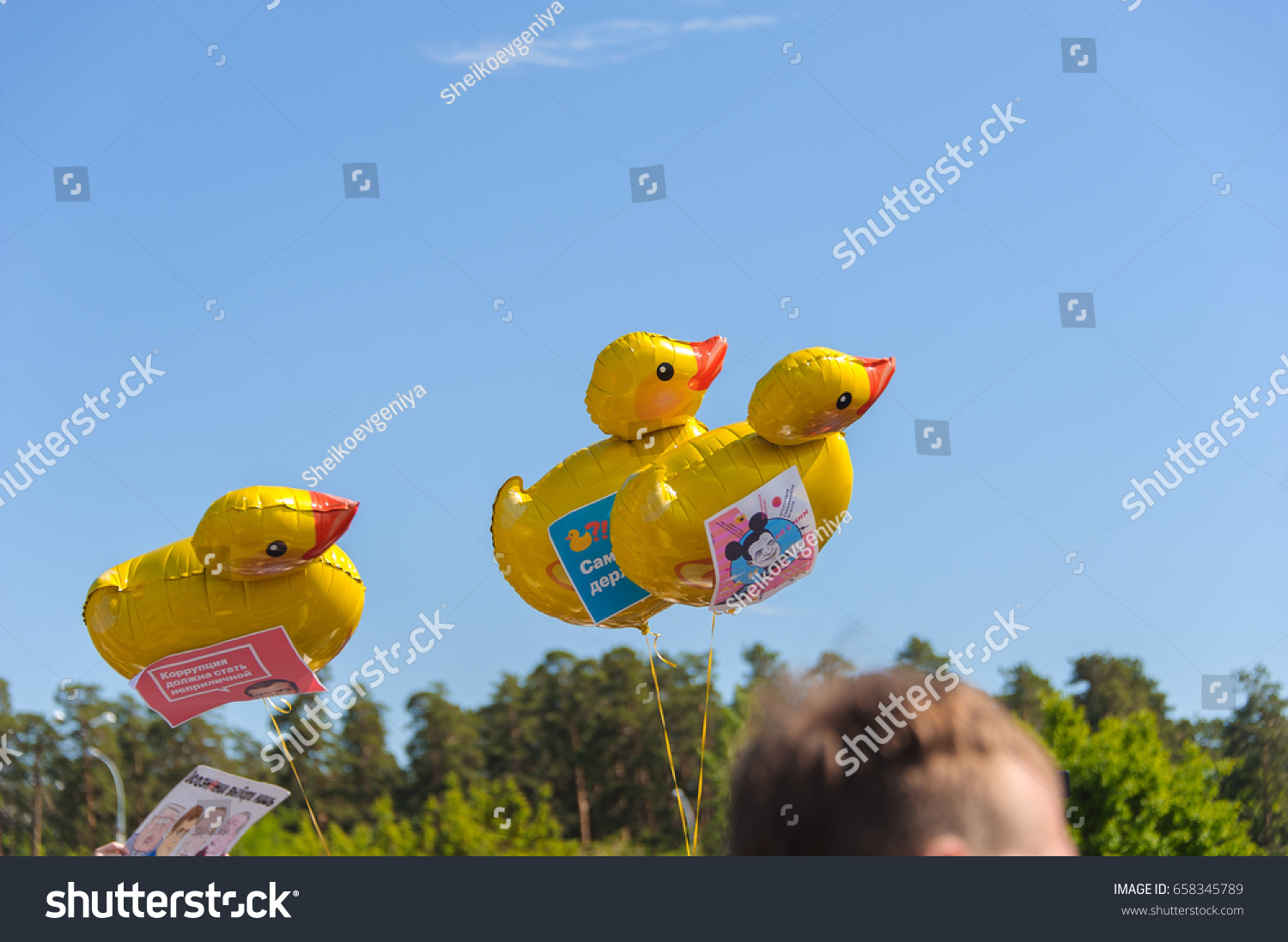 Duck Symbol Corruption Russia On Rally Stock Photo Edit Now