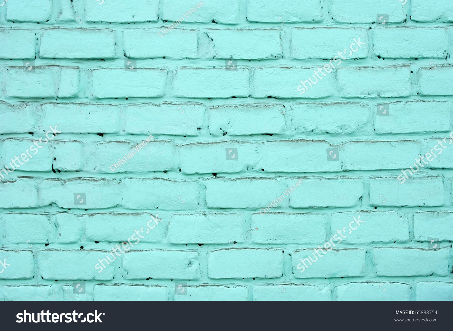Pared de ladrillos pintada de color stock photo 65838754 - Pared de ladrillo ...
