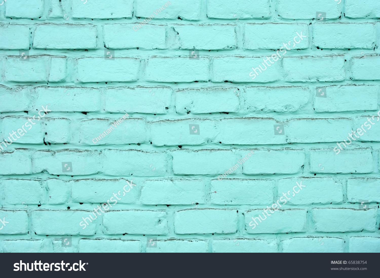 Pared de ladrillos pintada de color stock photo 65838754 - Pared de ladrillo ...