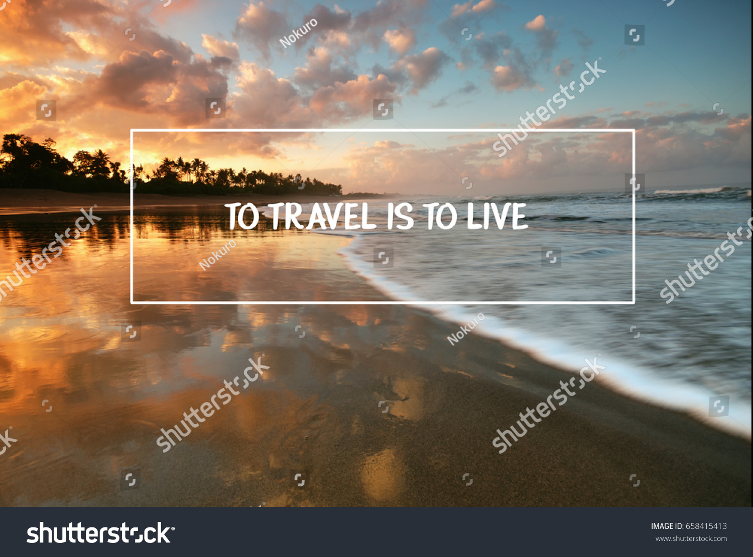Quotes For Travel Travel Inspirational Quotes Travel Live Blurry Stock Photo