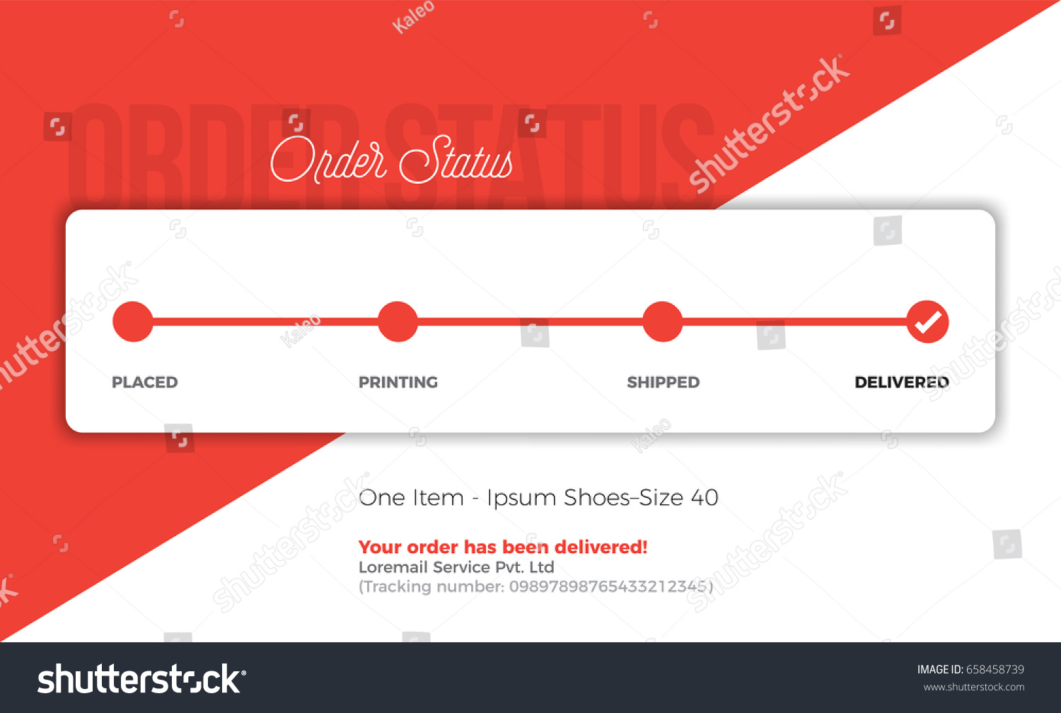 Product Tracking Status Order Delivery Progress Stock Vector ...