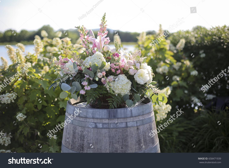 Pink White Green Wedding Ceremony Flower Stock Photo Edit Now