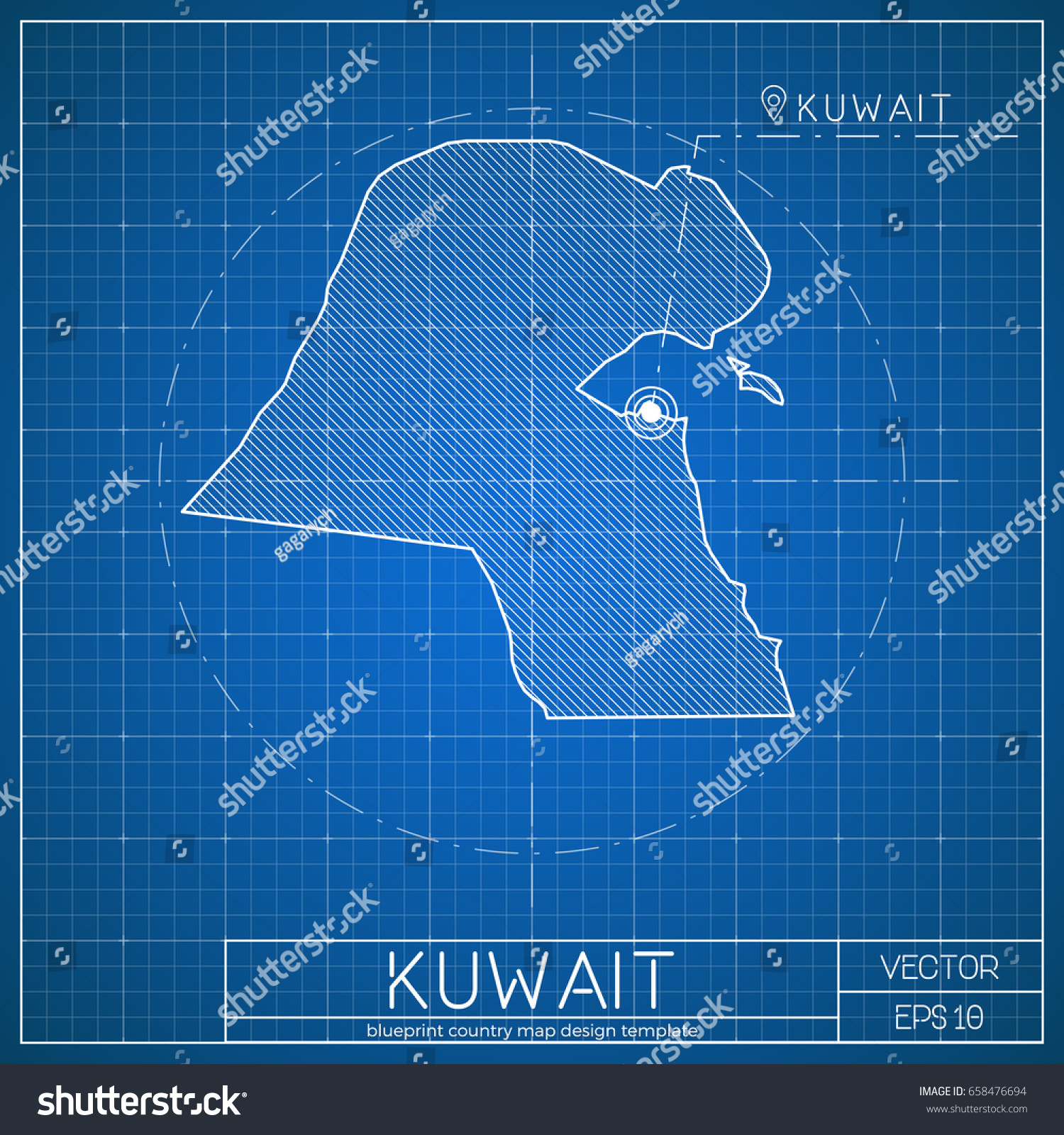 Kuwait blueprint map template capital city stock vector 658476694 kuwait blueprint map template with capital city kuwait city marked on blueprint kuwaiti map malvernweather Gallery