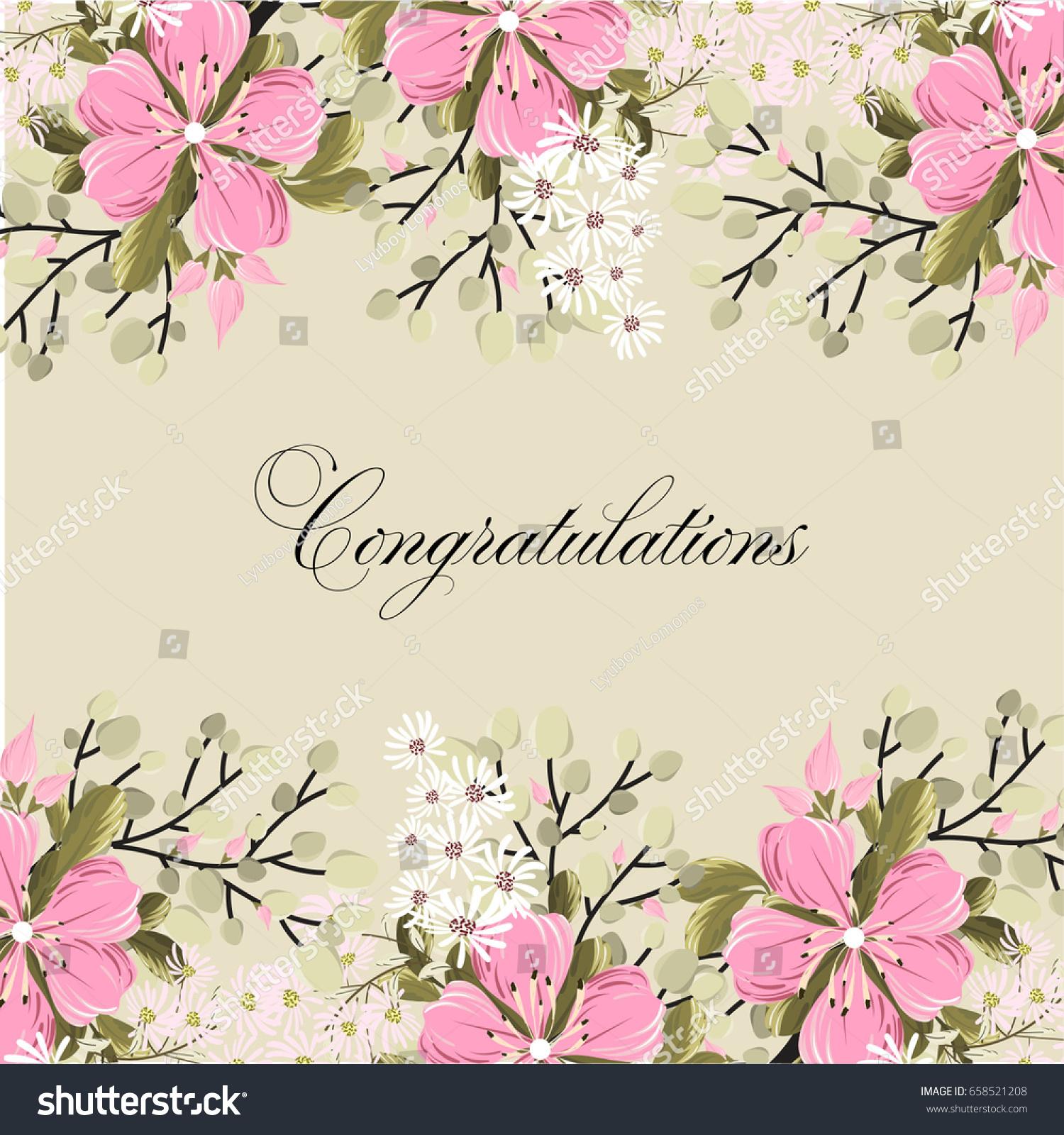 Vetor stock de hibiscus floral wedding invitation vector template hibiscus floral wedding invitation vector template stopboris Images