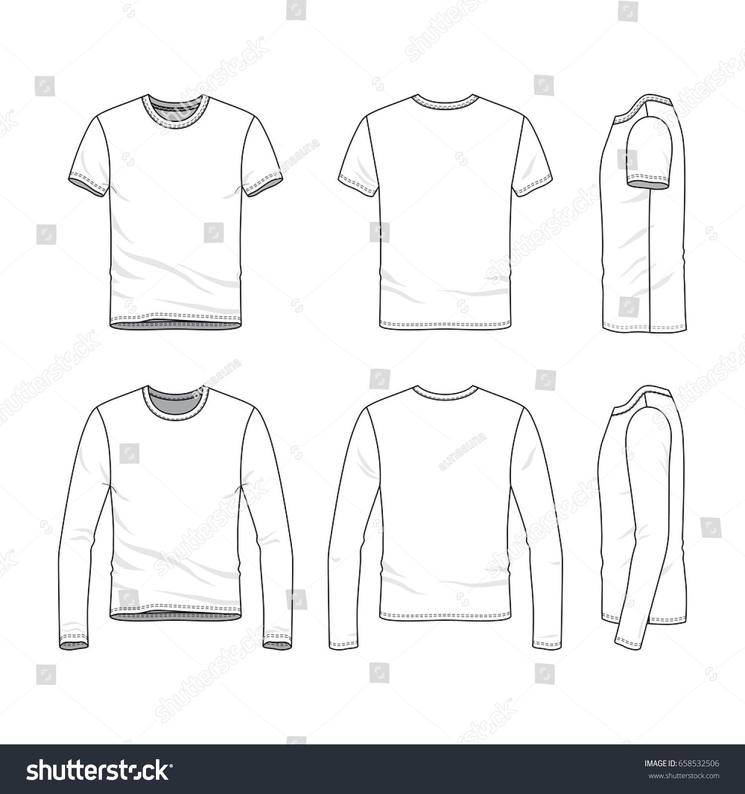 vector clothing templates blank shirts short stock vector royalty