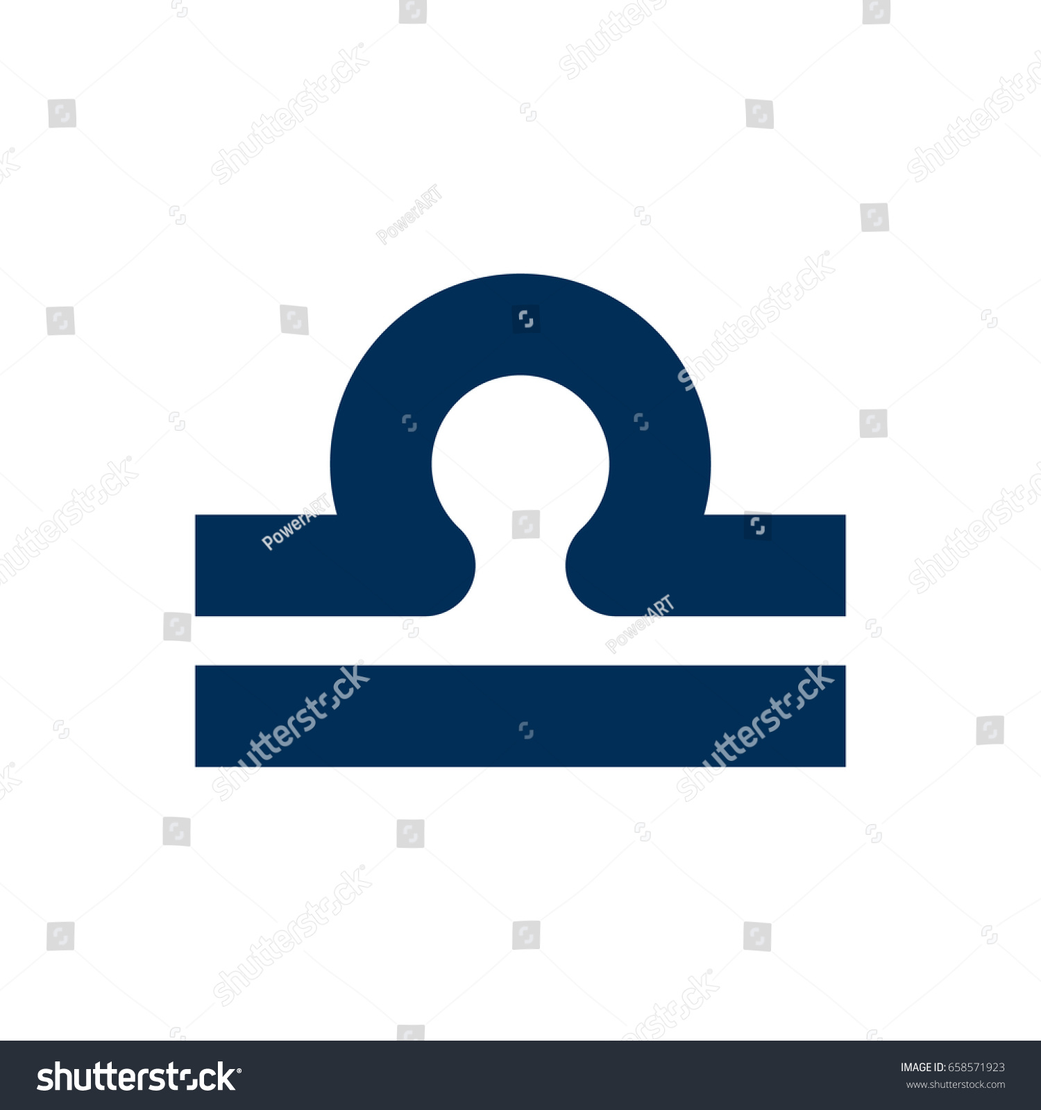 Isolated Libra Icon Symbol On Clean Stock Vector Royalty Free