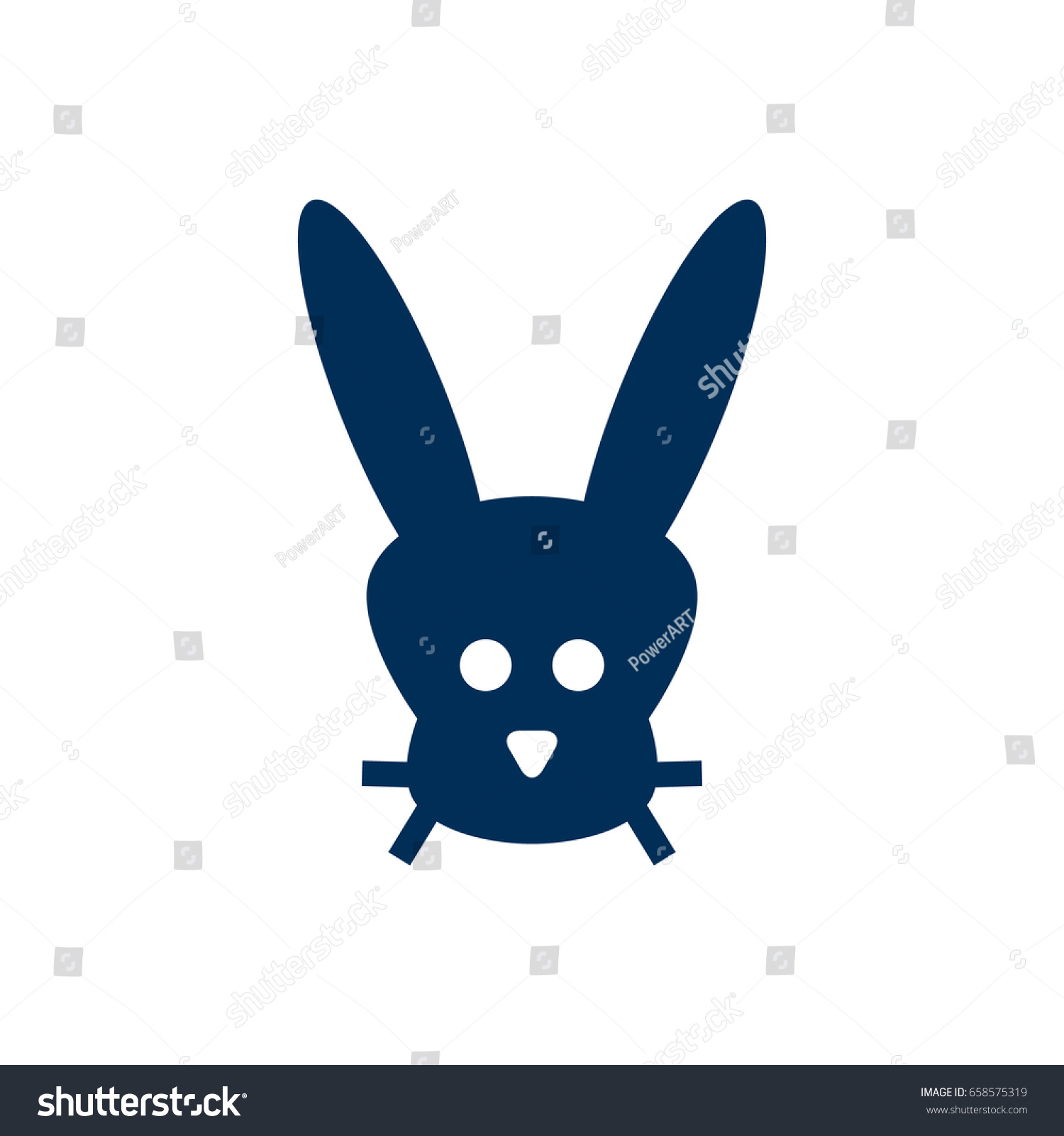 Isolated Bunny Outline Symbol On Clean Background Vector Rabbit