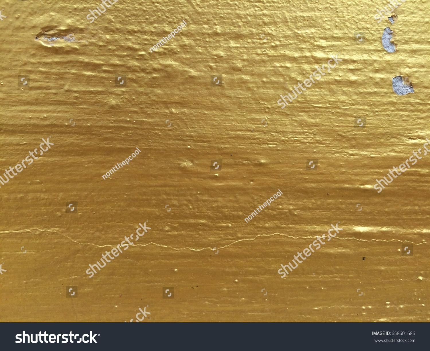 Gold Color Paint Cement Wall Stock Photo (Royalty Free) 658601686 ...