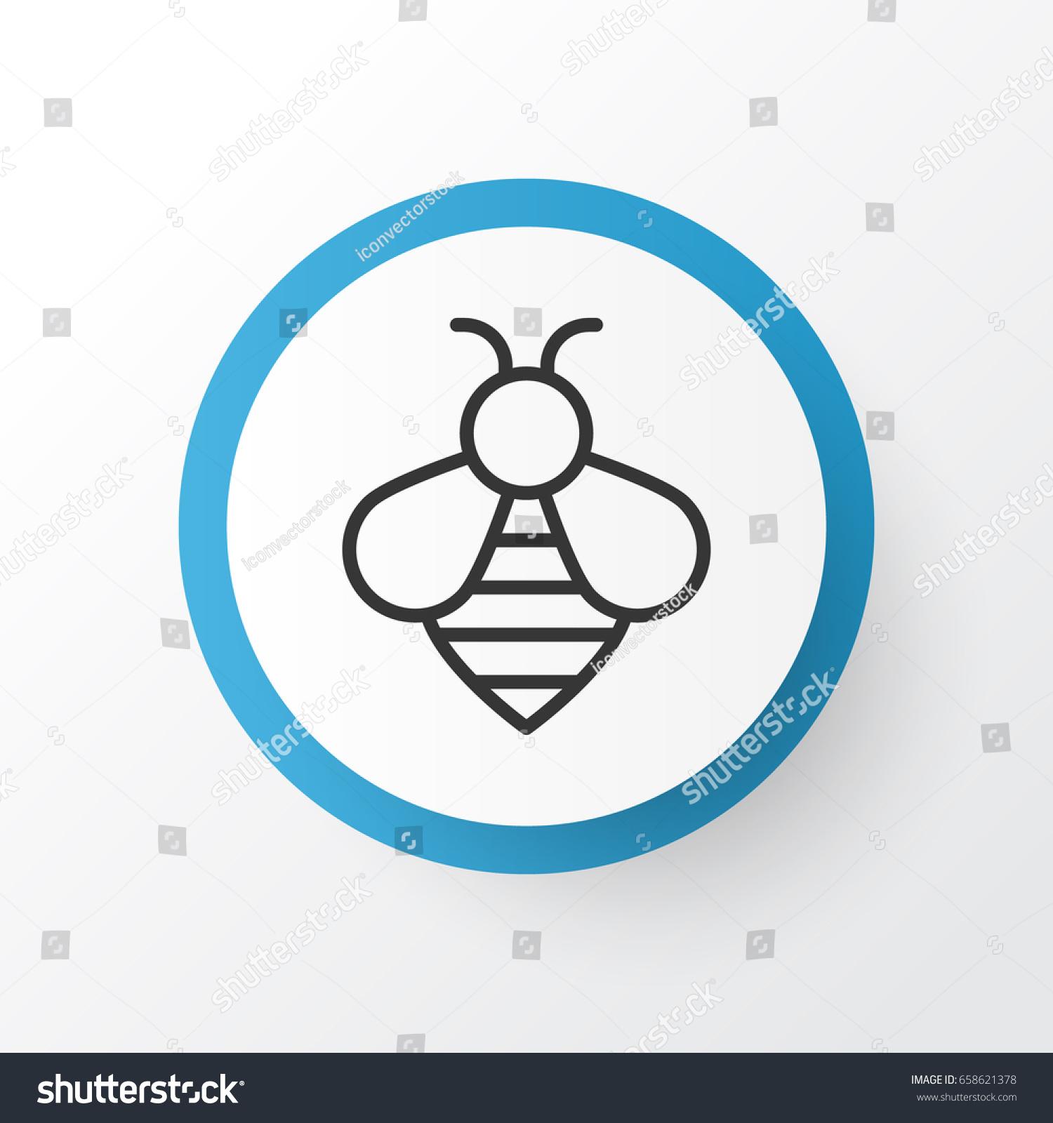 Bee icon symbol premium quality isolated stock vector 658621378 bee icon symbol premium quality isolated bumblebee element in trendy style biocorpaavc