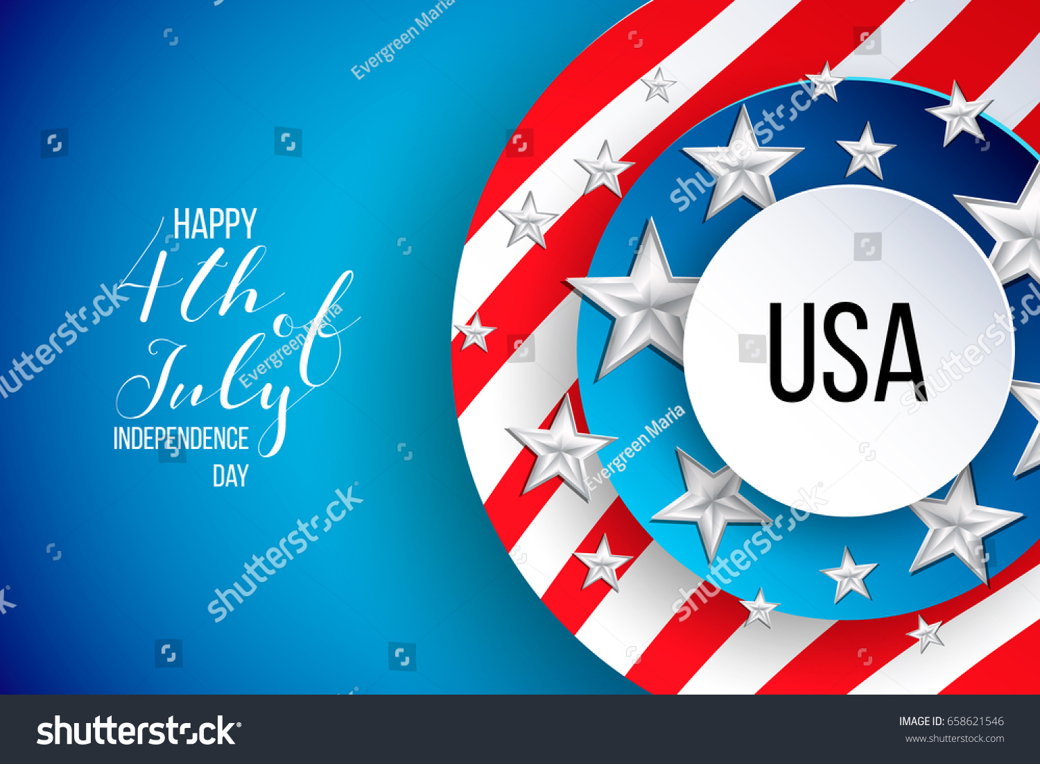 4th Fourth July United Stated USA Stock Vector (Royalty Free ...