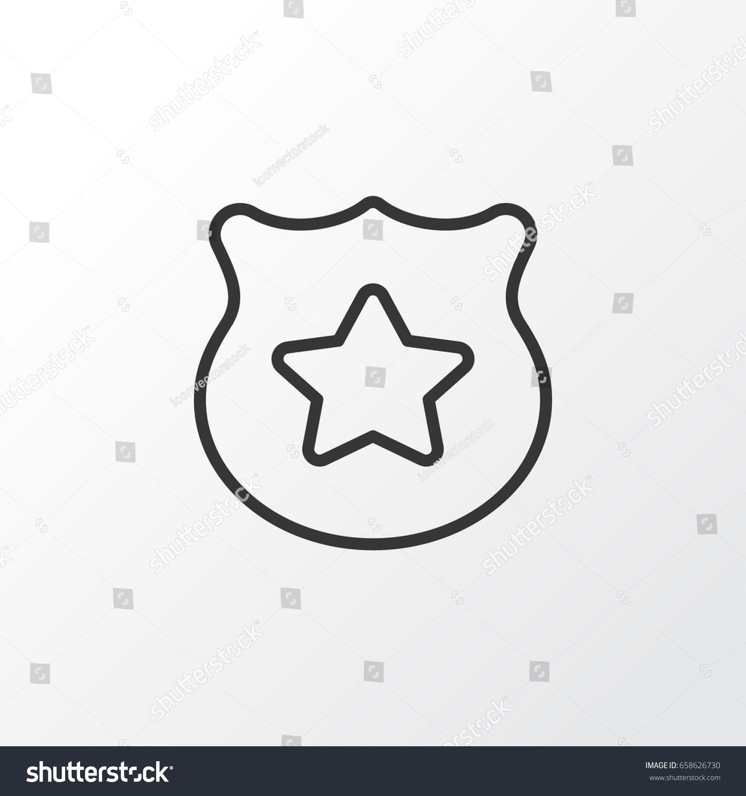 Police Badge Icon Symbol Premium Quality Stock Vector Royalty Free
