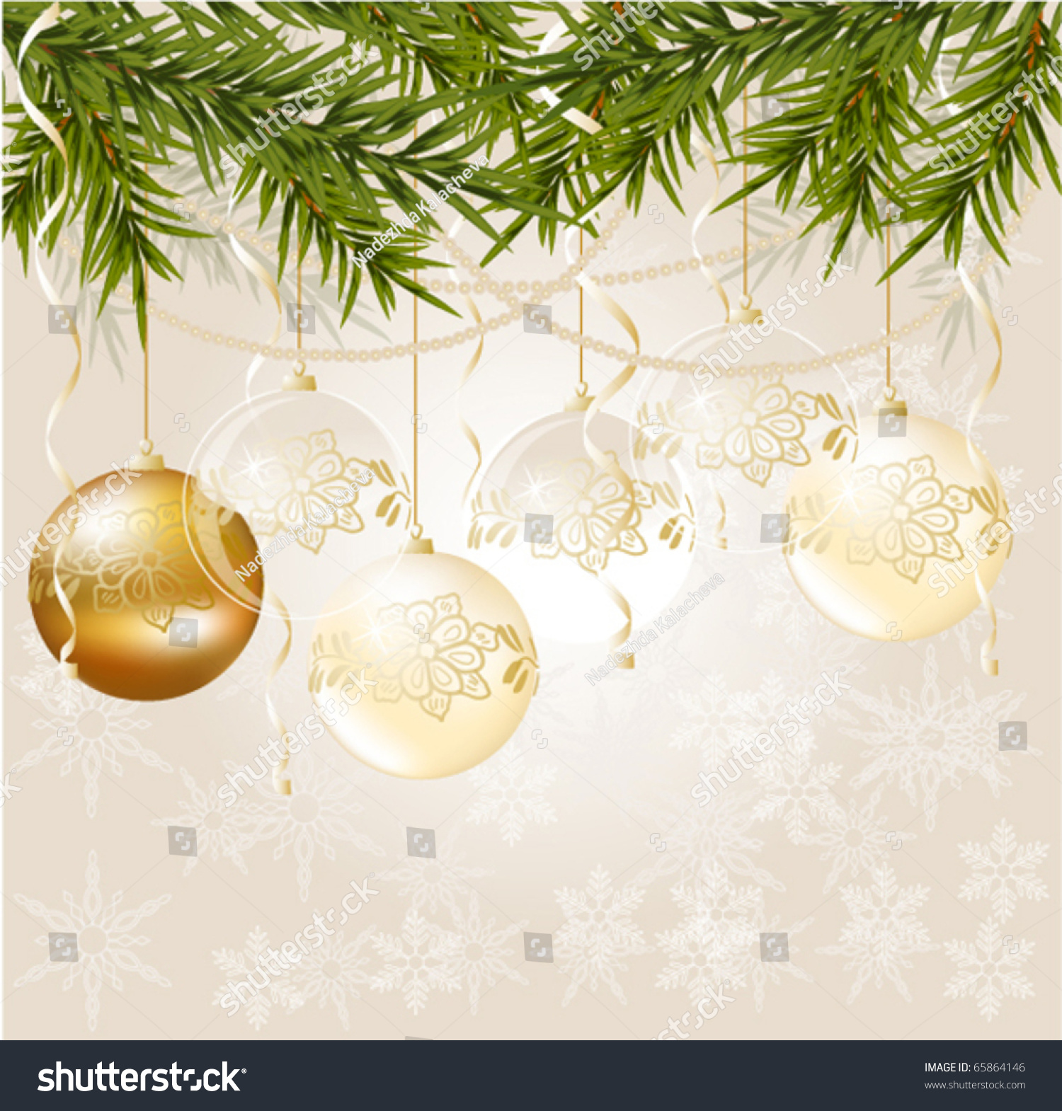 Gold and white christmas background