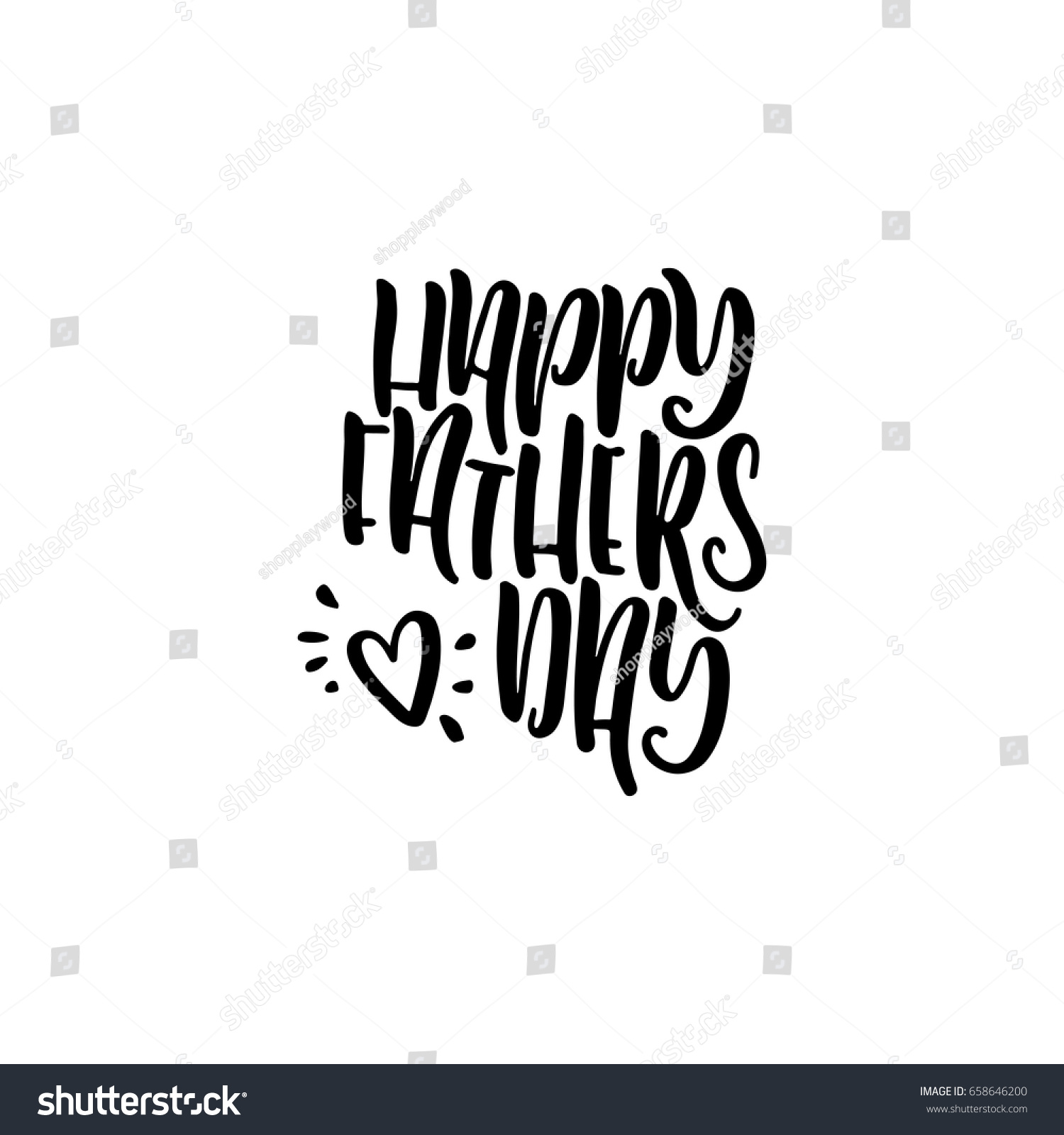 Greeting Phrase Written Feast Father Day Stock Vector Royalty Free