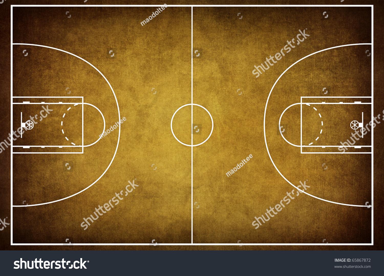 Basketball court floor plan on vintage stock illustration for Basketball floor plan