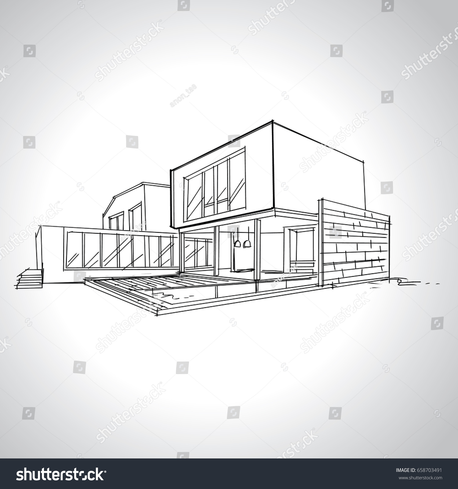 Image of modern home architecture sketches daksh modern house drawings contemporary home architecture sketches architectural