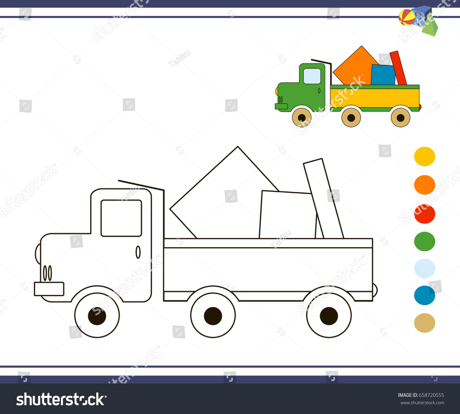 Coloring Pages Children Vector Coloring Book Stock Vector 658720555 ...