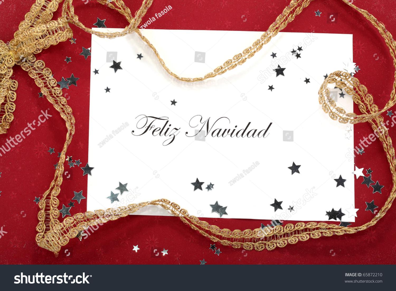Spanish Christmas Card Feliz Navidad Stock Photo (Edit Now) 65872210 ...