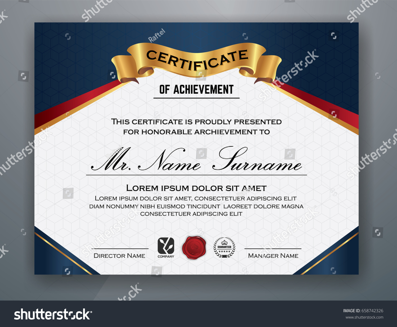 Multipurpose modern professional certificate template design stock multipurpose modern professional certificate template design for print vector illustration 1betcityfo Gallery