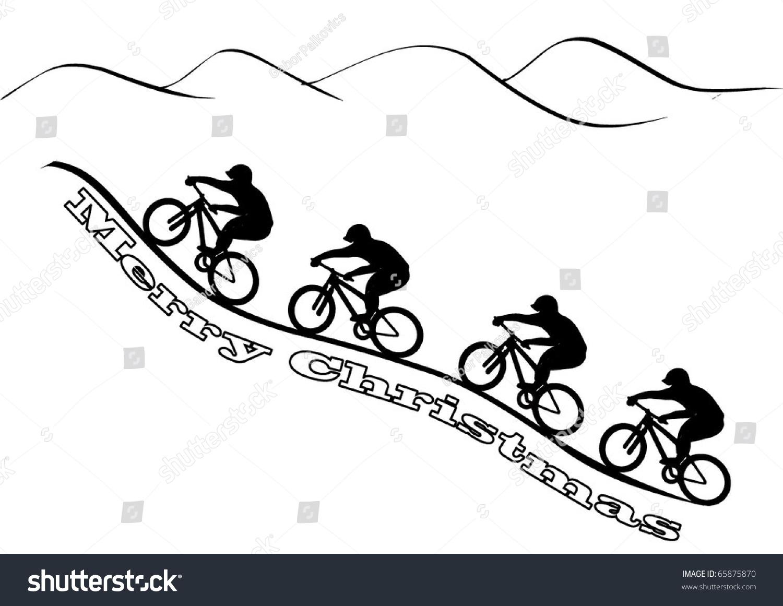 clipart mountain bike rider - photo #41
