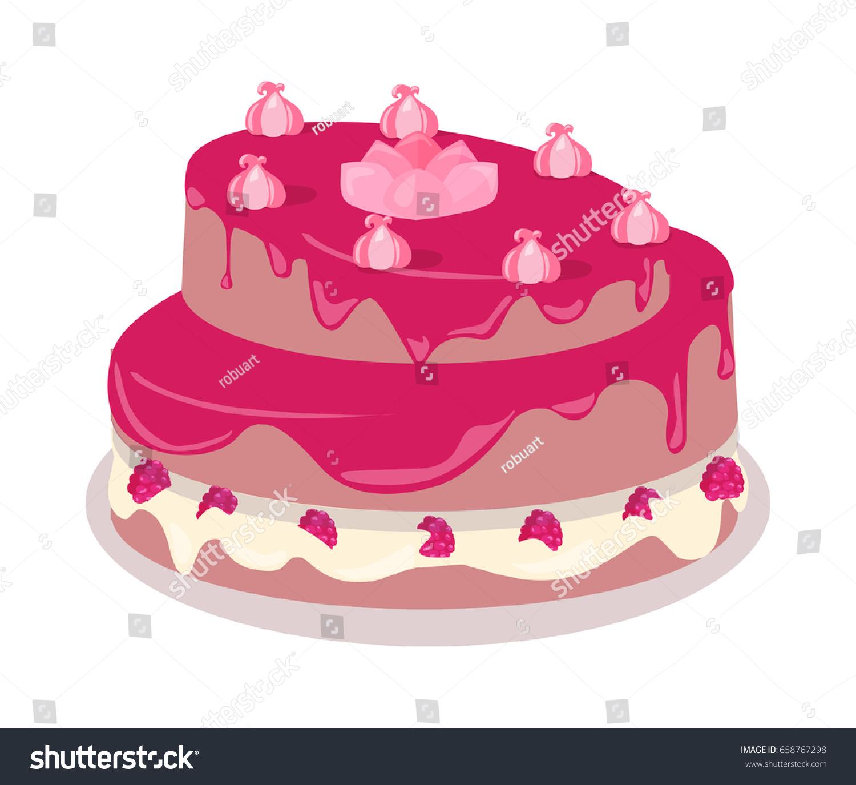 Delicious Festive Cake Web Banner Chocolate Stock Illustration