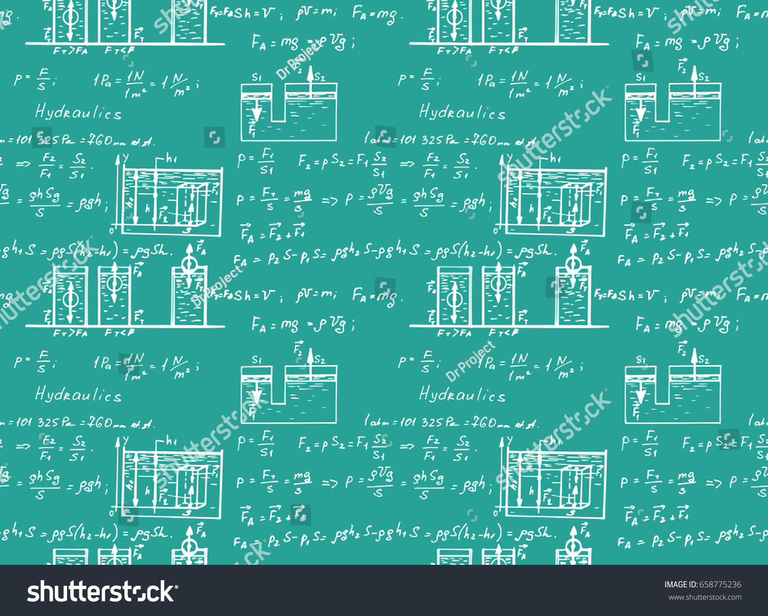 Hydraulics Fluid Law Theory Mathematical Formula Stock Vector Circuit Diagram Notation On Electronic Symbols And Physics Equation Doodle Handwriting Icon In