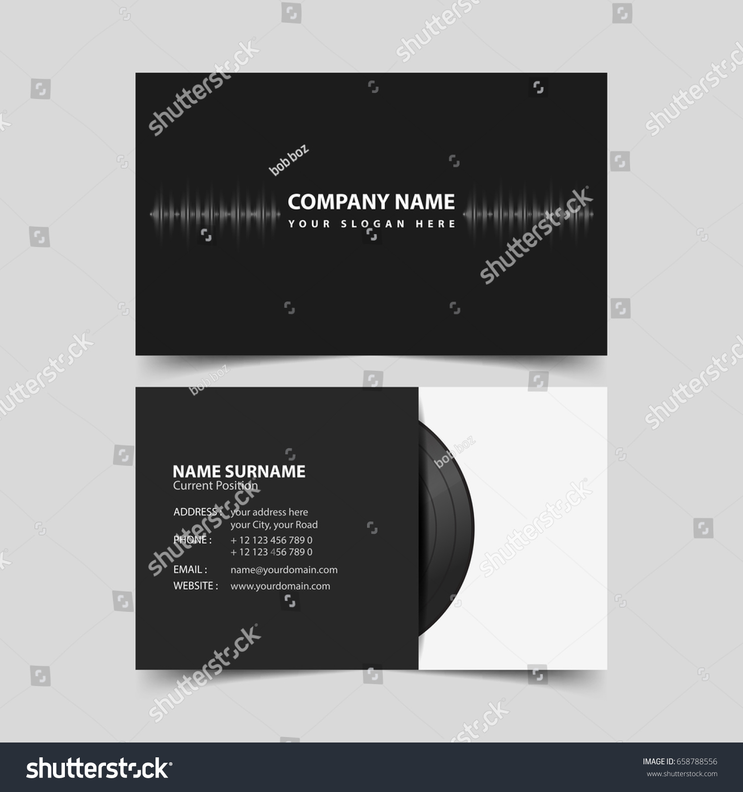 Vinyl record business card design template stock vector 658788556 vinyl record business card design template magicingreecefo Choice Image