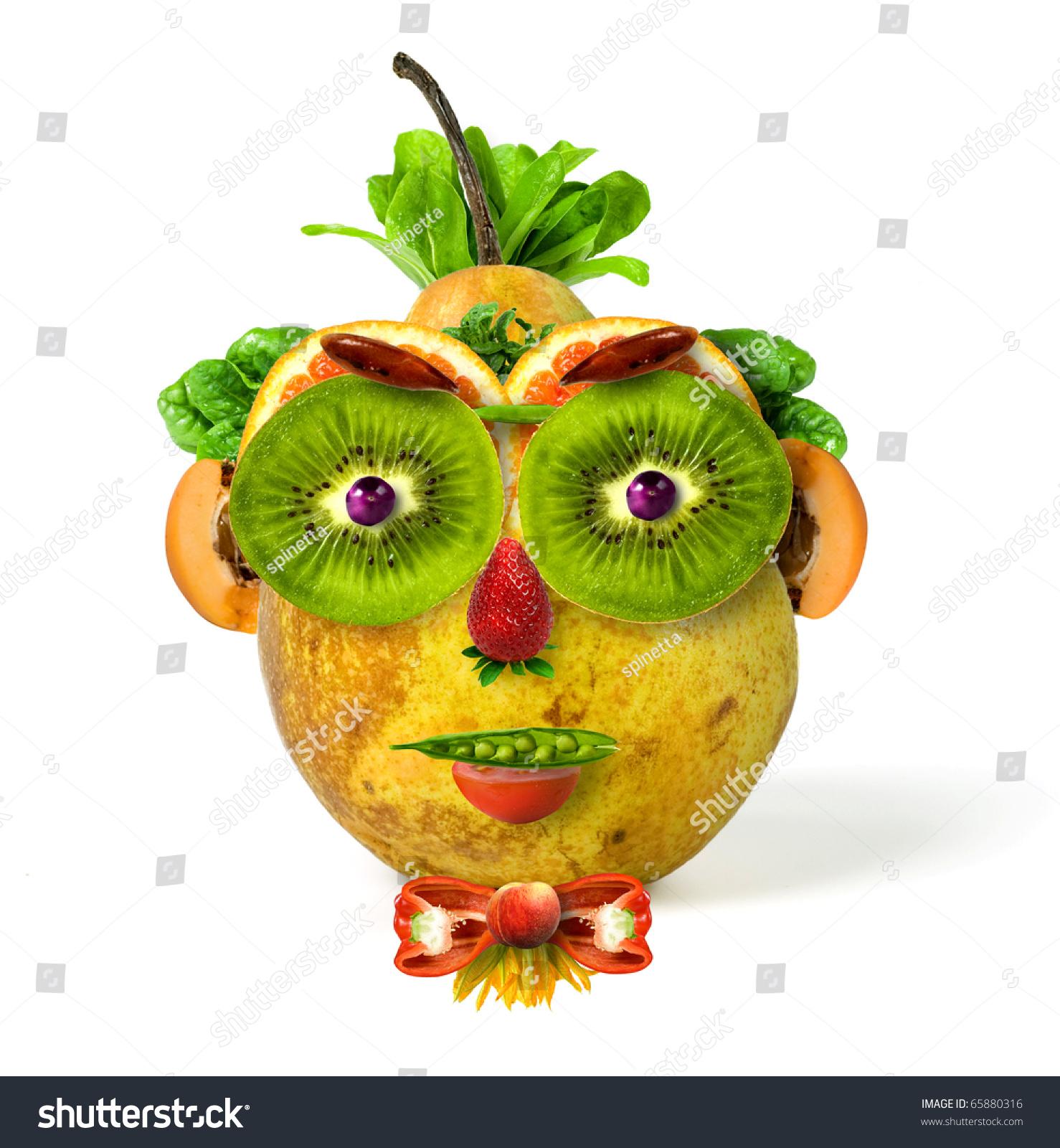 Porompompero Fruits Vegetables Face Stock Photo 65880316 ...