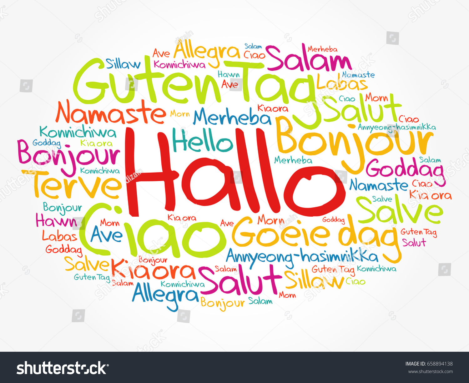 Hallo hello greeting german word cloud stock vector 658894138 hallo hello greeting in german word cloud in different languages of the world kristyandbryce Gallery