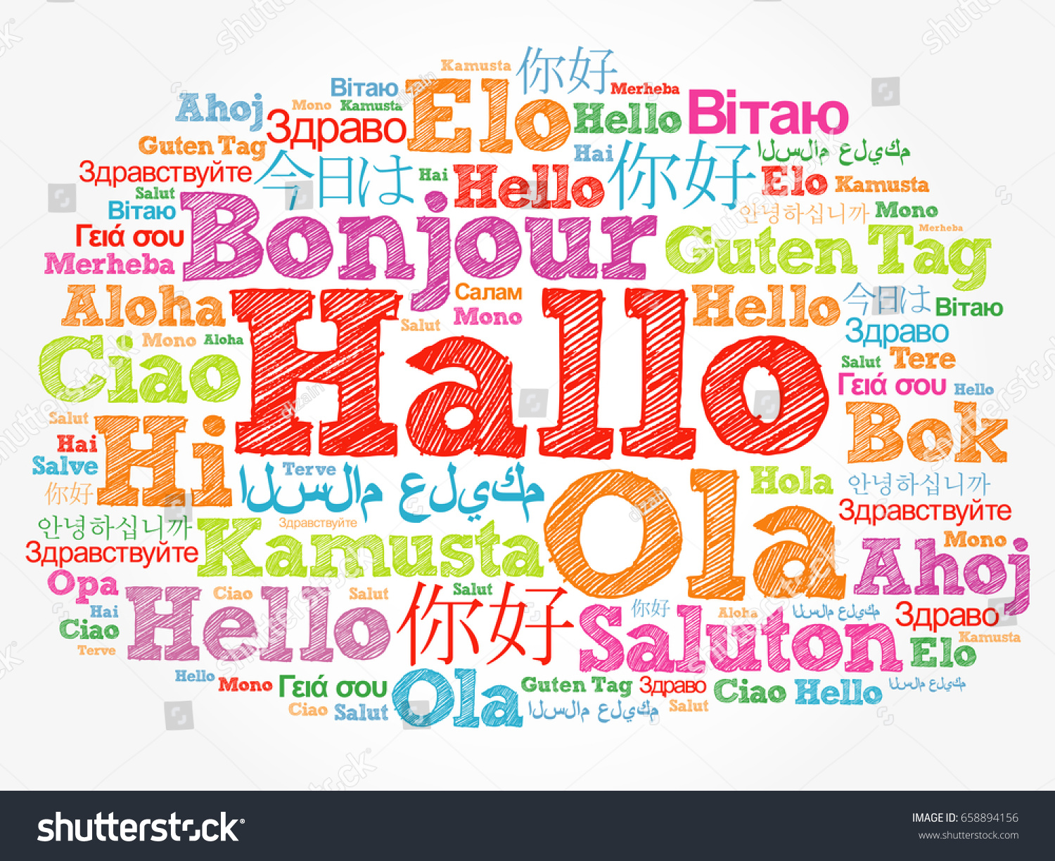 Hallo hello greeting german word cloud stock illustration hallo hello greeting in german word cloud in different languages of the world kristyandbryce Gallery