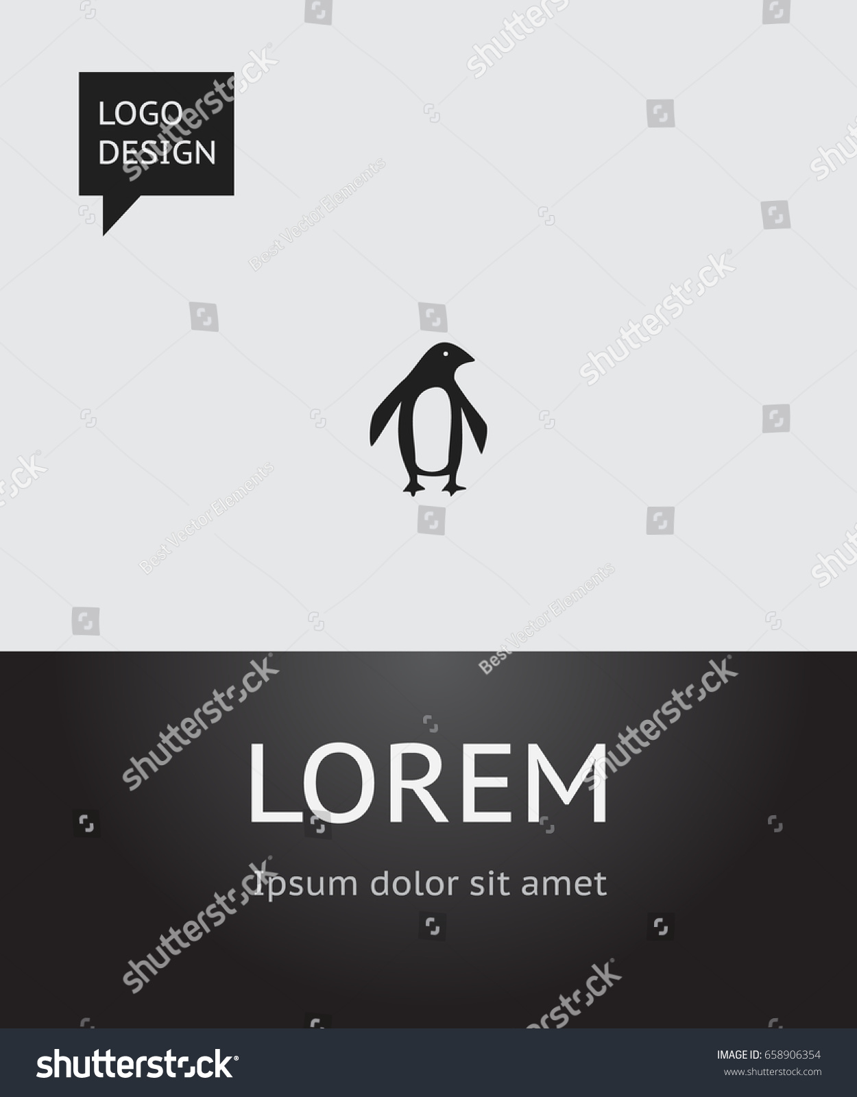 Zoology poster design - Vector Illustration Of Zoology Symbol On Penguin Icon Premium Quality Isolated Diver Element In Trendy