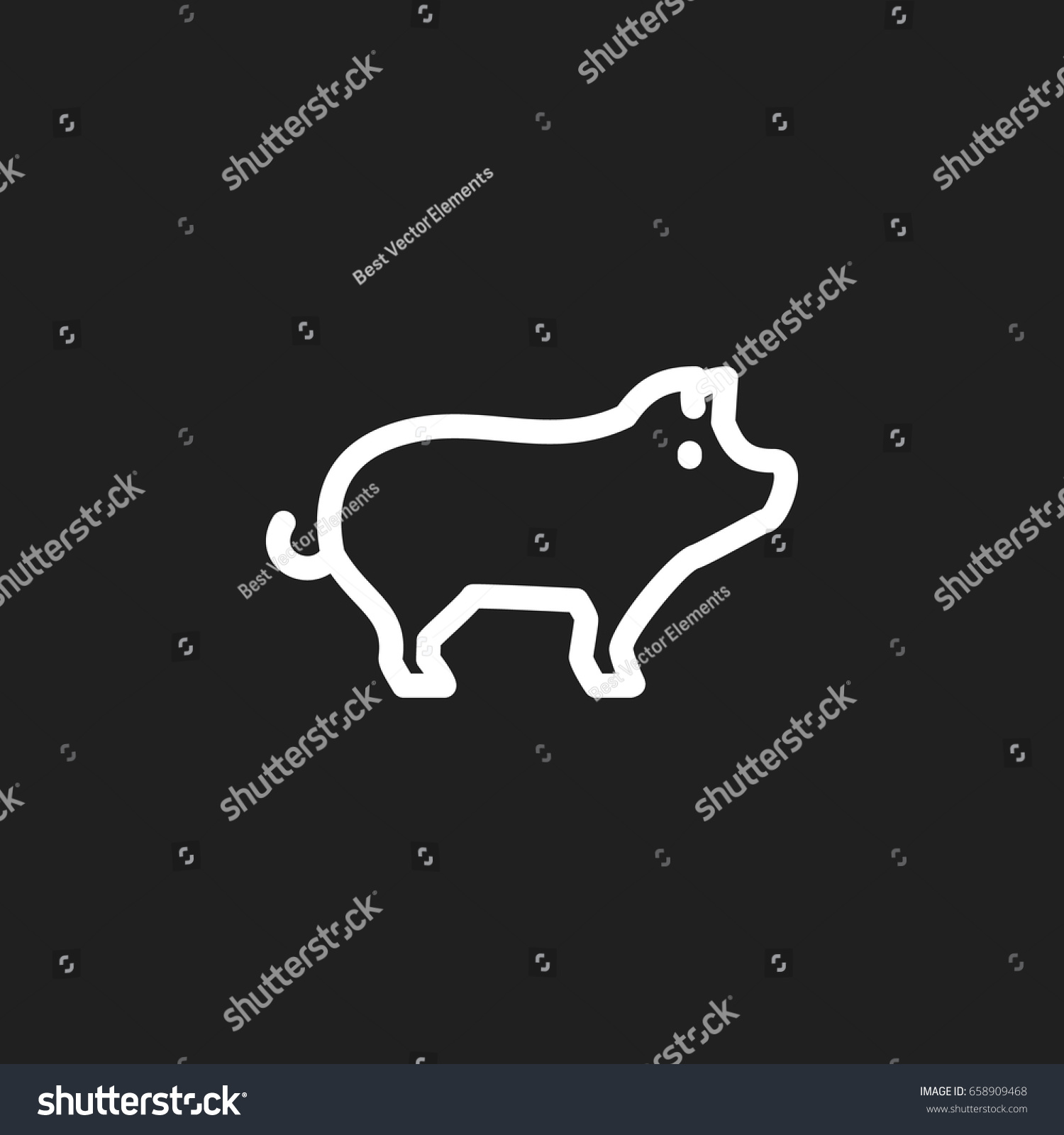 Vector illustration animal symbol on hog stock vector 658909468 vector illustration of animal symbol on hog outline premium quality isolated pig element in trendy biocorpaavc