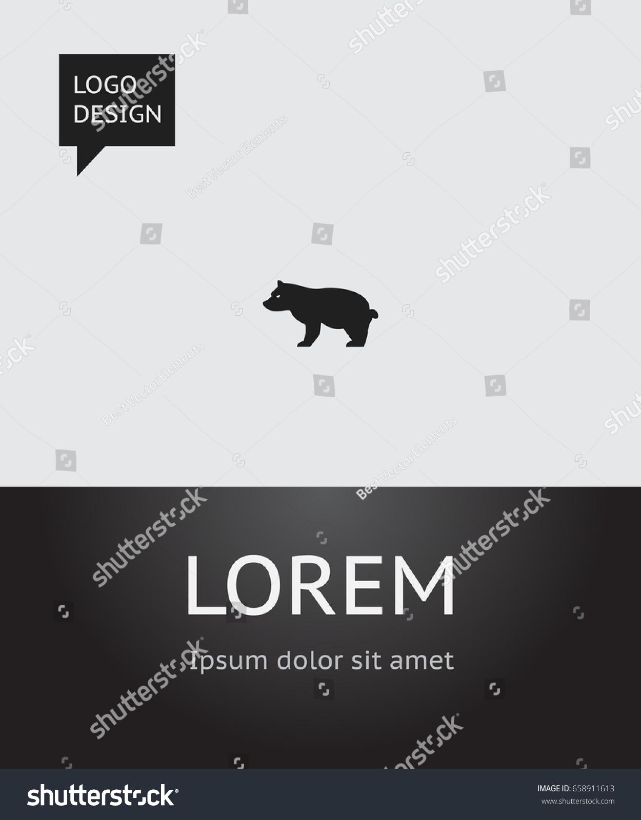 Zoology poster design - Zoology Poster Design Vector Illustration Of Zoology Symbol On Grizzly Icon Premium Quality Isolated Polar
